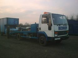 1980s Ford Cargo beavertail recovery