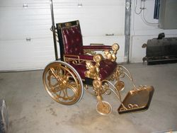 """custom """"Gold"""" wheelchair from """"The PUNISHER"""""""
