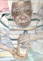 Portrait coloured pencil drawing