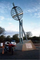 Tom's XJ900 at the Tropic of Capricorn, just North of Alice Springs - May 1992