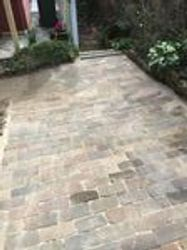 Brick Paved Area