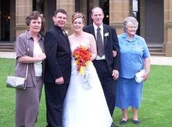 Jenny, Paul, Carly, Kevin & Mum at Carly & Paul's Wedding