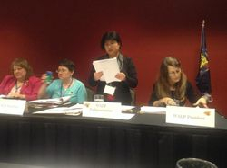 Katy Mathes-Woldt, PLS, CAP; Barbara LeCaptain, PLS; Julianna Durie, PLS; and Darla Stephenson, PP