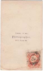 Thos. Hine, photographer of Chicago, IL - back