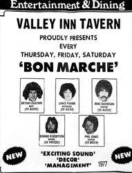 Bon Marche at Valley Inn 1977