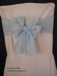 Baby blue voile bow.