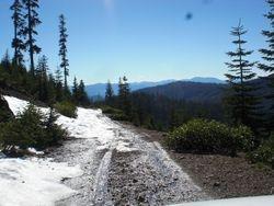 some snow we drove through