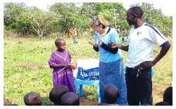 Teaching Oral Hygiene to Pokot children