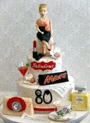 Fabulous 80 Cake