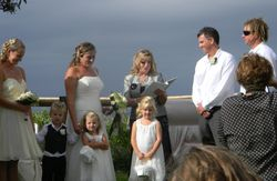 Wedding for Jessica and Russell and Naming of Abby, Kai and Brodie