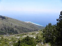 View at Ionian Sea from Llogara NP.