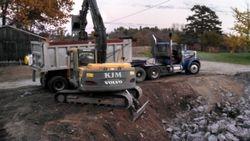 80,000 gallon Concrete water tank demolition