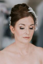Flawless Airbrush Makeup and Elegant Updo