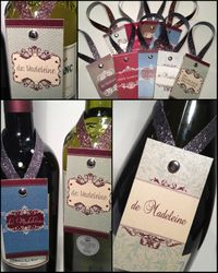 Wine Bottle Neck Tags - Classic Collection