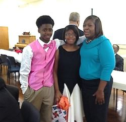 Justin, Brittany and Mom Genice Reedy