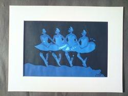 Cygnets dance, swan lake