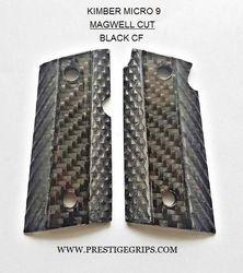 KIMBER MICRO 9 black CF Executive Series Magwell cut grips