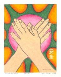 Protection Mudgra Mandala, Oil Pastel, 11x14, Original Sold