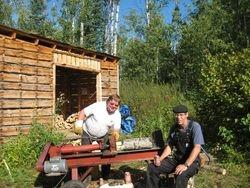 Real outdoorsmen at work