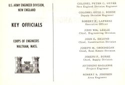 Hurricane Barrier 1962 Dedication Booklet