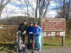 Enjoying the Virginia Creeper Trail