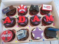 14th birthday personalised cupcakes