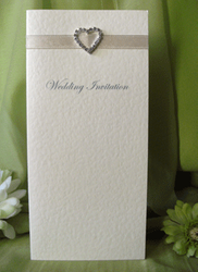 Ivory Diamante Day Invitation