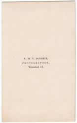 F. M. V. Doughty, photographer of Winsted, CT- back