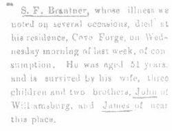 Brantner, S. F. 1894