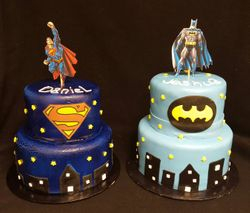 Batman and Superman cake by Bake My Day