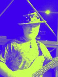 Ray Parker laying down the bass