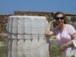 Tasoulla Christou at Sounion in May 2009