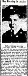 Gerald Isaac Grubb Birthday Announcement
