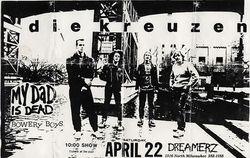 1989-04-22 Dreamerz, Milwaukee, WI
