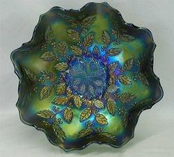 Holly ruffled bowl, blue