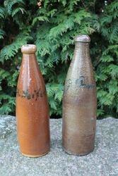 Antikvariniai bravoro moliniai buteliai. 2 vnt. Kaina po 12