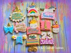 Birthday Cookies Unicorn Theme
