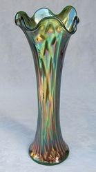 "Nine Sixteen, 12 1/2"" vase, green"