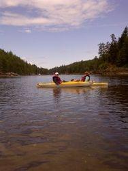 paddling Reverie's 2 kayaks in Secret cove