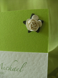 Lime Rose Day Invite Close up