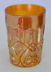 Feather & Heart tumbler - marigold