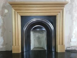 Solid Oak Fireplace (Front View)