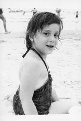 Aimee at the beach...