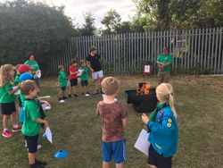 End of term campfire
