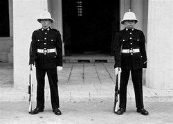 On Palace Guard Duty Malta 1961