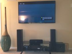 Surround sound and TV mounting