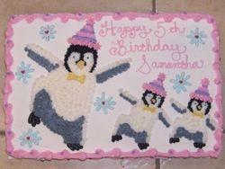 Dancing Penguin Cake