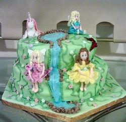 Fairys and Unicorn Cake