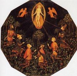 Florentine, Worship of Venus, mid 14th, birth plate (desco da parto), Louvre