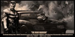 #0th anniversary of the Road Warrior cover art